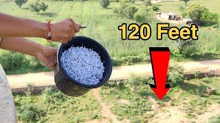 Dropping Pop Pop Crackers From 120 Feet Height || Pop Pop Crackers vs 120 Feet Water Tank