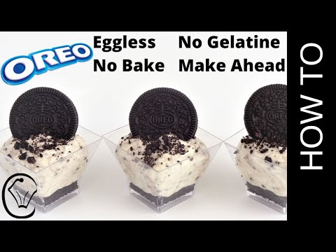 No Bake Mini Oreo Cookies and Cream Cheesecake Cups by Cupcake Savvy's Kitchen