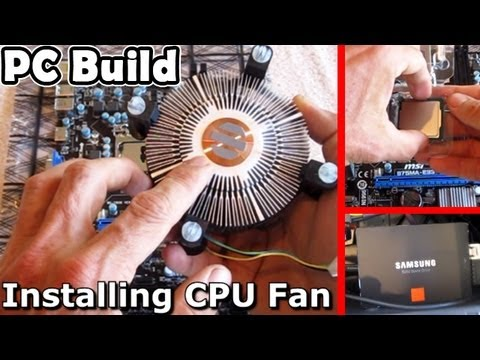 My 1st ever PC Build - SSD Intel i5 7850 8gb Battlefield 4 Samsung computer how to install cpu fan