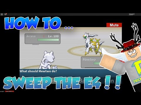 HOW TO SWEEP THE ELITE 4 WITH 1 POKEMON!! Roblox Project Pokemon!!
