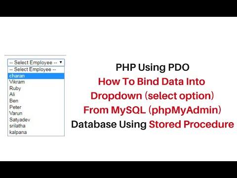 php fill dropdown from mysql (phpmyadmin) using stored procedure