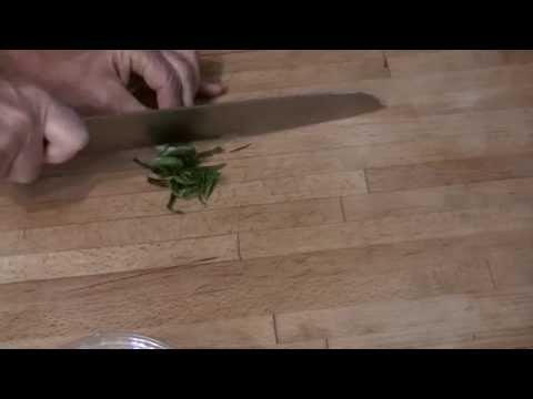 Cutting Basil into Thin Ribbons