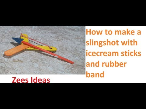 How to make a slingshot with icecream sticks. (Gelel, arrowshooter)