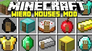 Minecraft WEIRD HOUSES MOD | FIND FAMOUS YOUTUBERS HOUSE!! Minecraft