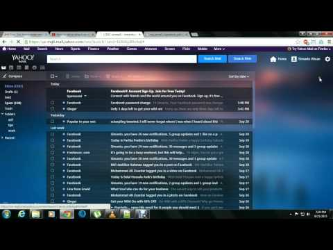 How to set or attach an email signature into my yahoo mail 2015