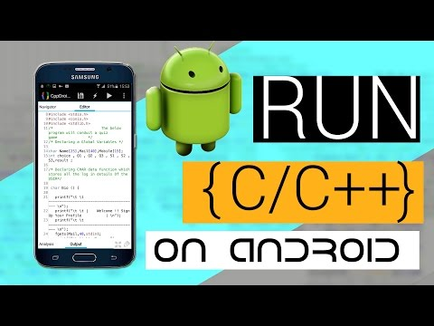 How to write and compile  C/C++  Source code Using Android Device