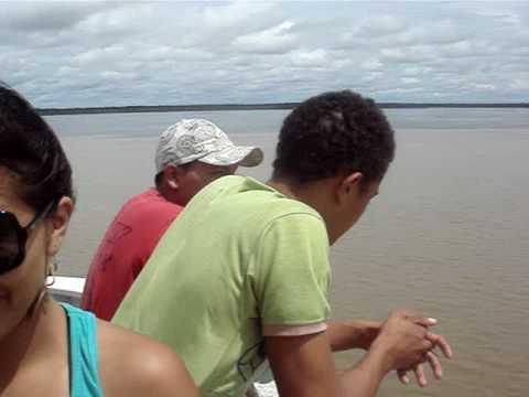 Amazon River Confluence of Rio Negro with Rio Branco, north of Manaus