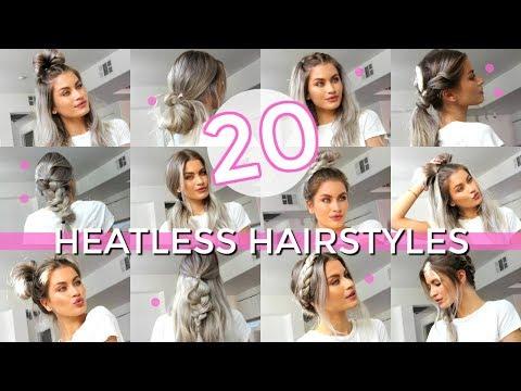 20 HEATLESS HAIRSTYLES - EASY & SIMPLE! | LYSSRYANN