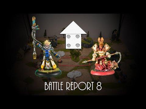 Warmachine Battle Report 8:  50 Pts. Cygnar vs Protectorate of Menoth