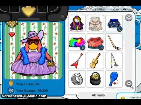 ♥  Rare Club Penguin Account For Trade! ~ Pink Boa & Blue Boa & Floppy Hat ♥