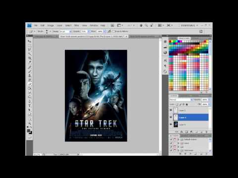 PhotoShop tutorial: add your face to Movie Poster (star trek)