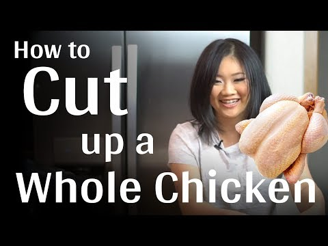 The Way Professionals Cut Whole Chicken ...and it is so Easy