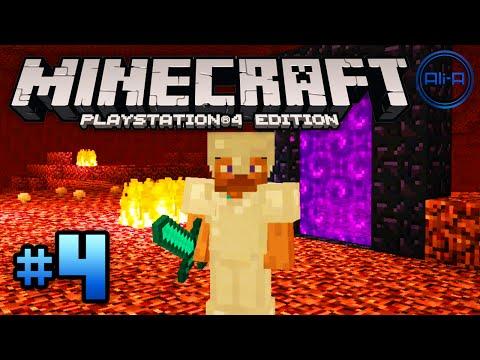Minecraft PS4 gameplay Part 4 -