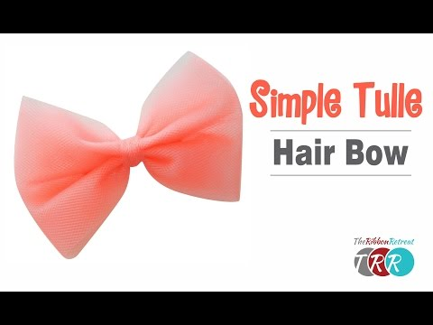 How to Make a Simple Tulle Bow - TheRibbonRetreat.com