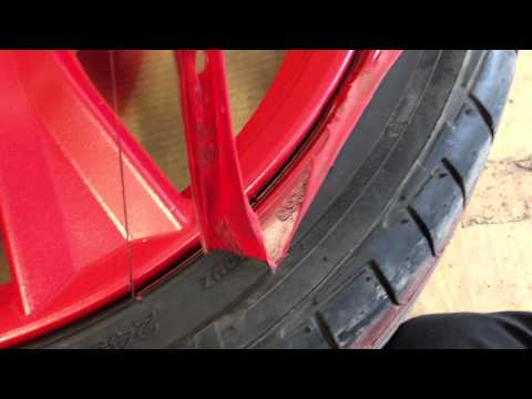 Removing PlastiDip from Tires Honda S2000 Rims Red PlastiDip with Glossifier by Casewrap