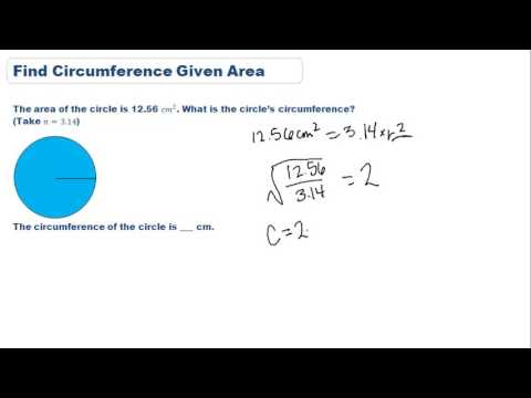 Find circumference given area