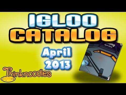Club Penguin: April 2013 Igloo Upgrades Catalog Cheats