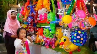 belanja membeli mainan anak balon balon lucu lucu beli mainan dengan Abang Penjual Mainan