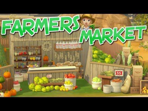 The Sims 4: FARMERS MARKET (Fruit & Veg Stand) Speed Build (No CC)