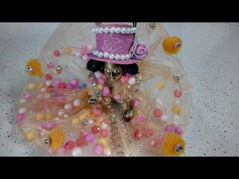 Make Laddu Gopal Dress With Thermacol Balls | CraftLas