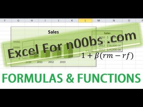 Excel Formulas & Functions Tutorial #1 Microsoft Excel Basics Excel 2016 Tutorial Excel 2013