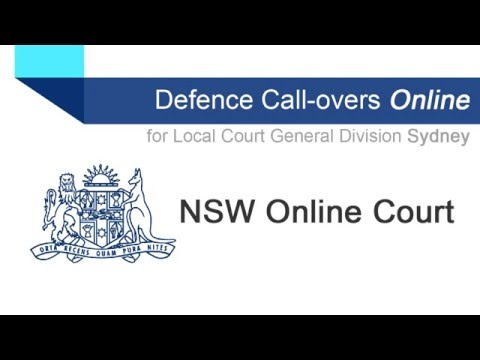 Online Court - Defence Call-overs online for Local Court General Division civil list