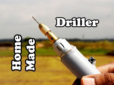 Home Made Mini Electric Driller Testing