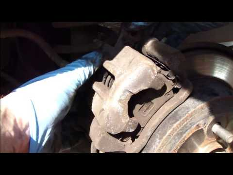 How to change rear brake pads Toyota Corolla. Years 2002-2008