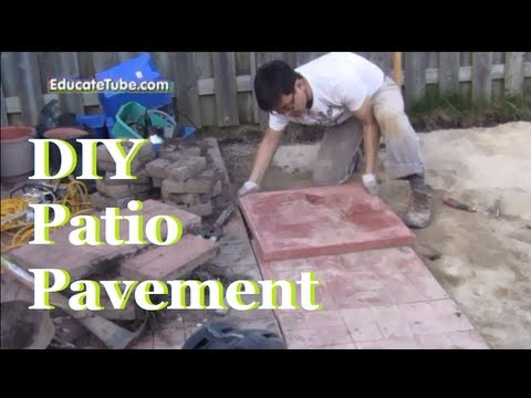 DIY Backyard Patio Pavement - A Cool Outdoor Weekend Project