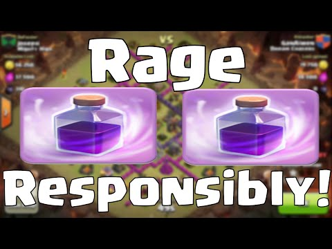 Clash Of Clans Rage Spell Attack Strategy