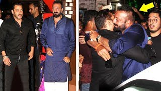 Salman Khan Sanjay Dutt HUG Each Other & End FIGHT In Public