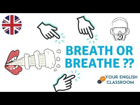 Breath or Breathe? Basic Vocabulary & Pronunciation