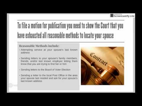 Service by Publication - Divorce in NJ