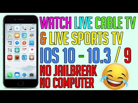 How To Watch Live Cable TV & Sport TV on iOS 10 & 9 for FREE (NO JAILBREAK) iPhone, iPad, iPod