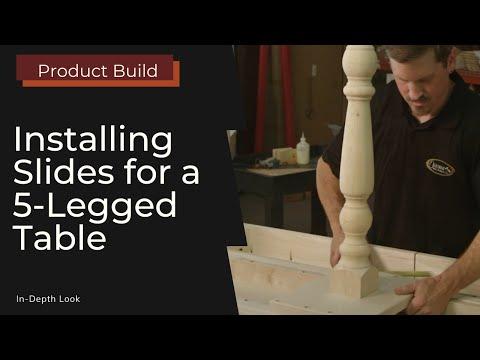 Installing Equalizer Slides for 5-Legged Standard Tables
