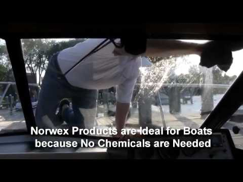 Cleaning Boat Windows with Norwex Microfiber and Water