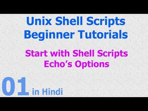 01 - Unix Shell Scripts - Start with Scripts - Hello World