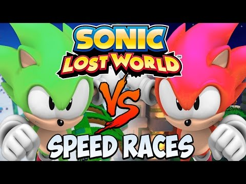 Sonic Lost World (Wii U) - 2 Player Multiplayer - Speed Races [HD]