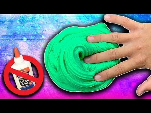 2 Ingredient Fluffy Slime DIY Without Glue, Shampoo, Lotion or Cornstarch