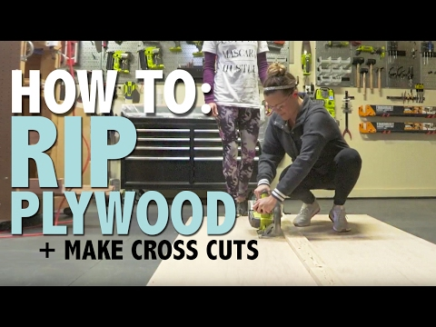 How To: Rip Plywood + Make Cross Cuts | Shanty2Chic