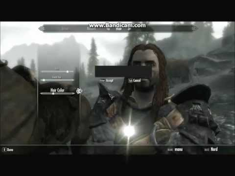 Skyrim character appearance(race) change