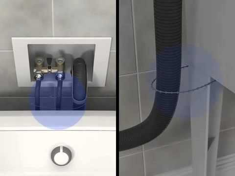Washing Machine Drain Hose Installation Tutorial  | Whirlpool Self Help Videos
