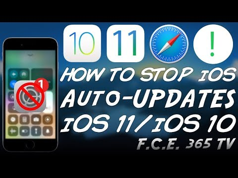 iOS 11.x / iOS 10.x How to Stop Your iPhone From Updating Automatically (UPDATED METHOD)