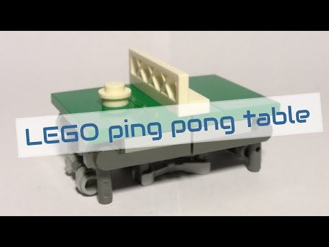 Working LEGO ping pong table