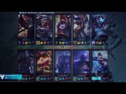 Bring back old Shaco - FULL BLUE BANNER TEAM RUNNING IT DOWN WITH THE SQUAD