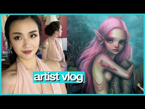 A normal day of spring cleaning, wedding, & more painting! 💖 ARTIST VLOG 40