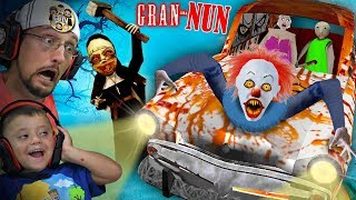 SOMETHING is WRONG with GRANNY GAME!! Gran-NUN? (FGTeeV plays Crazy Mods)