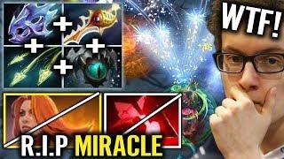 IllidanSTR [Medusa] vs MIRACLE [Lina] - Rapier Boss vs Super Range Machine Gun - Dota 2