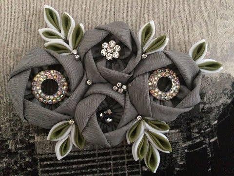Fabric Flower Brooch \ Broche de Tela de Flores