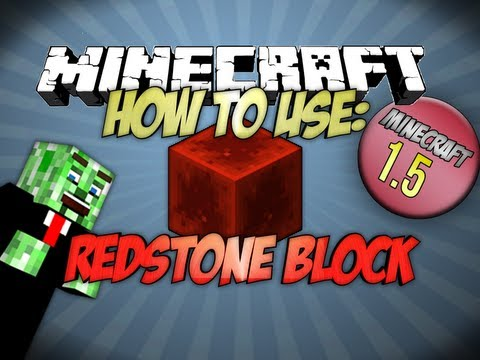 How to use the Redstone Block Minecraft